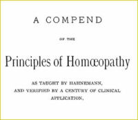 A Compend of the Principles of Homeopathy on CD