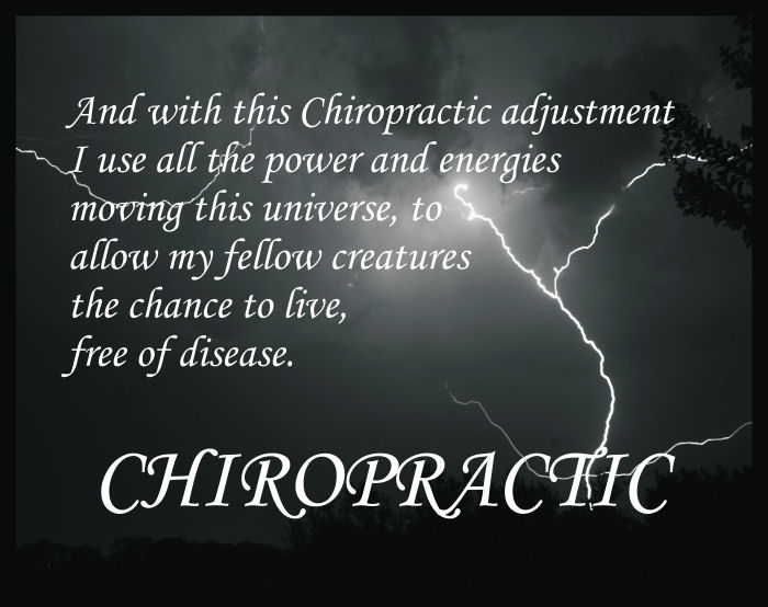 Chiropractic Adjustment Poster 18 X 24