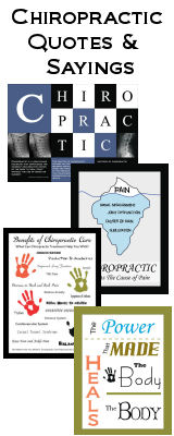 Chiropractic Quotes Posters